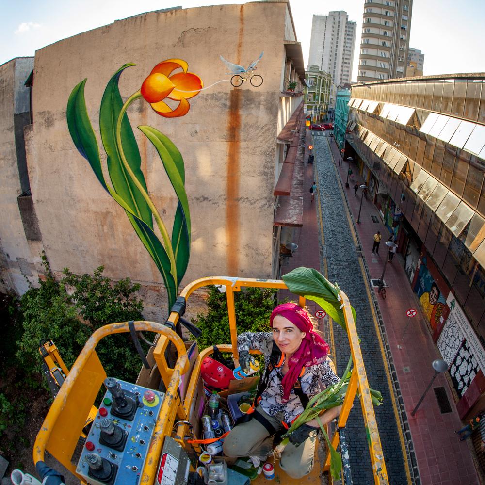 Bike flower in curitiba mona caron Mural of flowers
