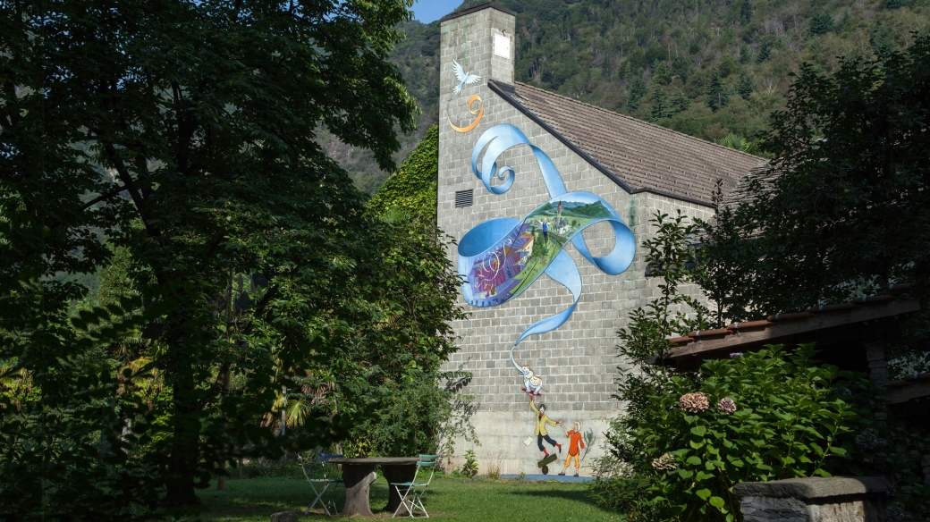 murale dimitri parco del clown