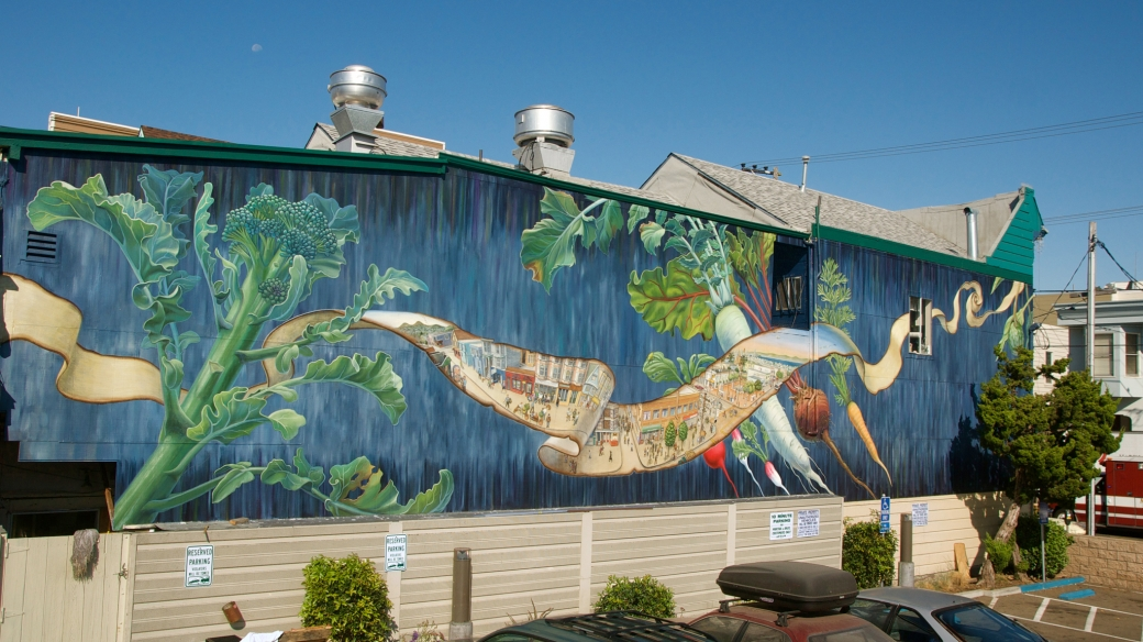 Noe Valley Mural West by Mona Caron