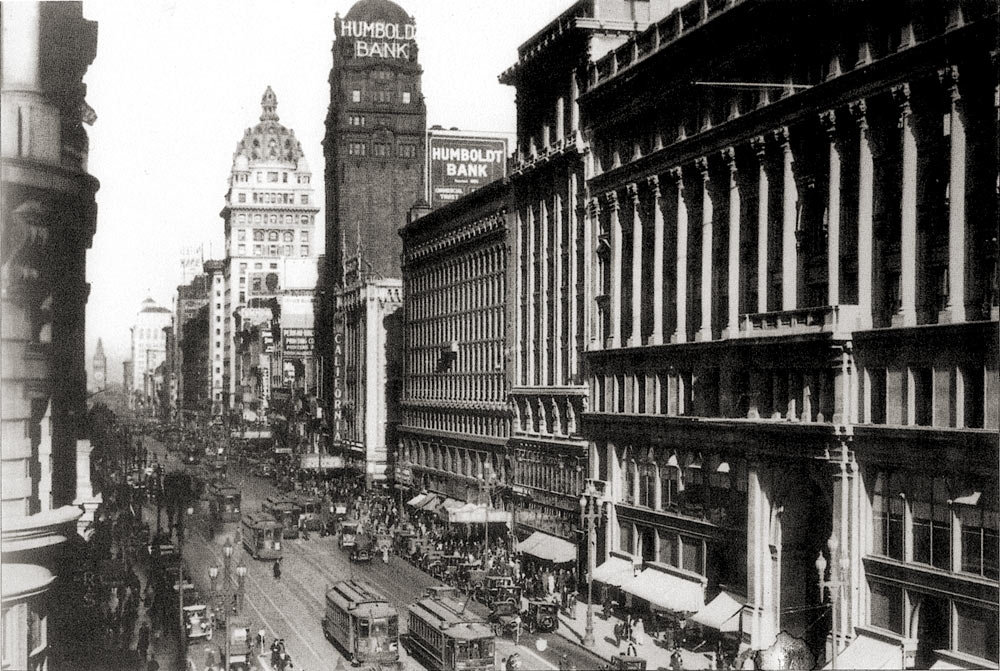 the SF Call building, and the Humboldt building in 1925