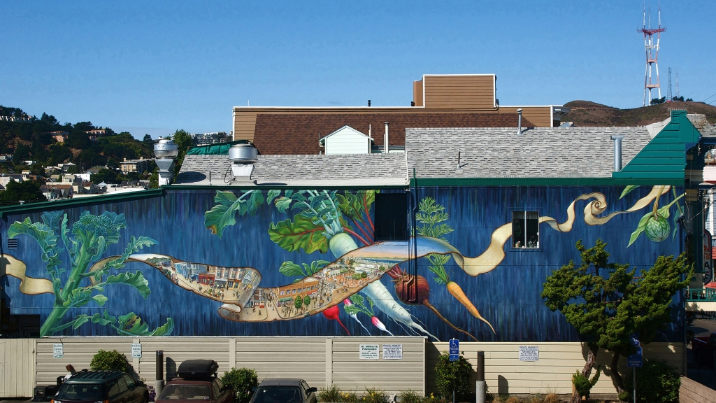 Noe Valley West Mural by Mona Caron