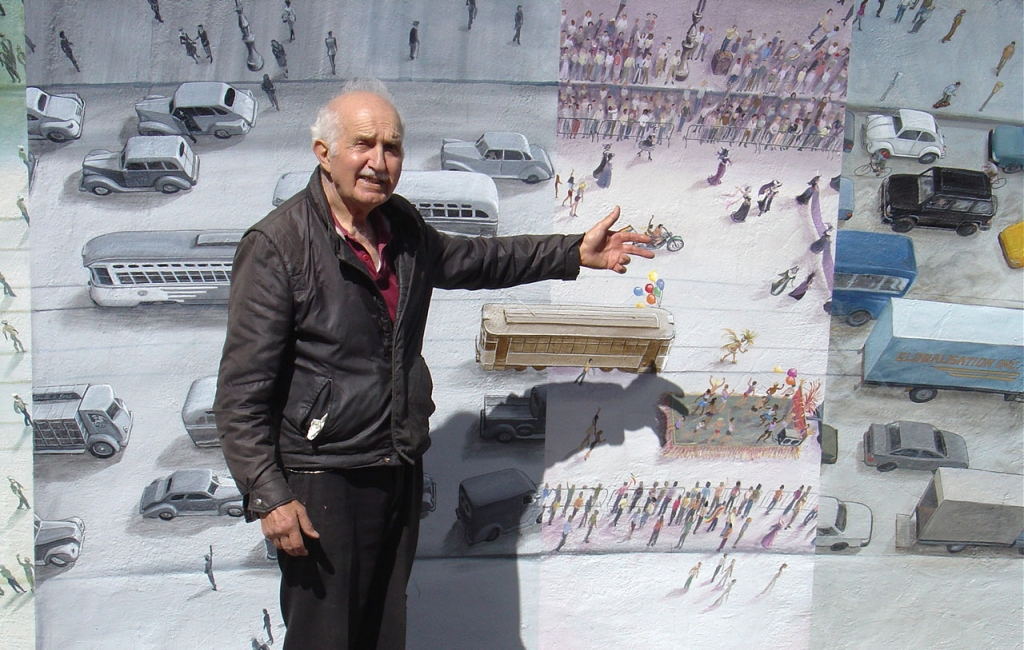 Sam Yeramian, the owner of the building the mural is on, remembers the 1920's
