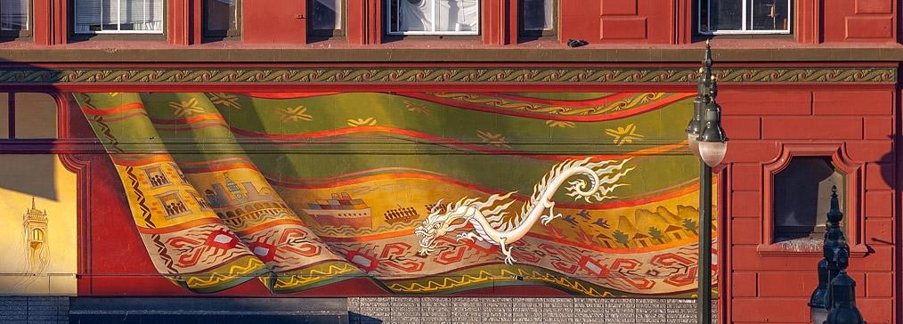 South East Asian curtain - Windows Into The Tenderloin - Mona Caron