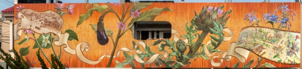 Noe Valley Mural (East side) by Mona Caron