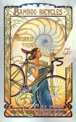 Poster for Calfee Bamboo Bikes by Mona Caron