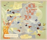 "Monarchs and Queens map by Mona Caron for ""Infinite City - A San Francisco Atlas"" by Rebecca Solnit"