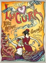 Concert Poster for LoCura by Mona Caron